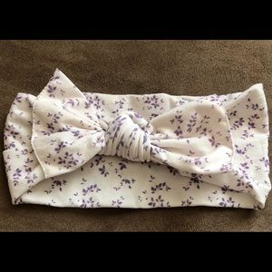 EUC lilac vines baby bling bow